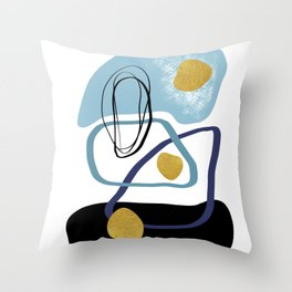 Modern minimal forms 10 Throw Pillow