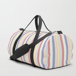 Blue, Red & Yellow Nautical Rope Pattern Duffle Bag