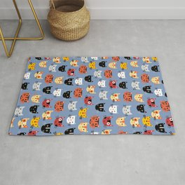 Multiple Cats Rug