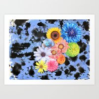 Abstract Floral Collage Art Print