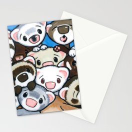 16 Ferrets Stationery Cards