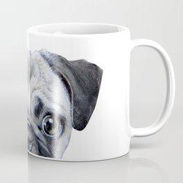 pug Dog illustration original painting print Coffee Mug
