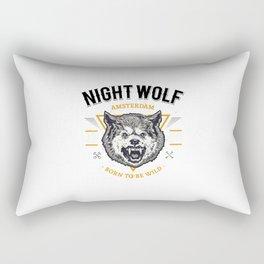 Tete Loup Art Rectangular Pillow