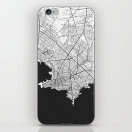 Montevideo Map Gray iPhone Skin