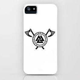 Norse Axe - Valknut iPhone Case
