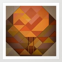 hot air balloon Art Prints featuring Hot Air Balloon Abstract by Alyn Spiller