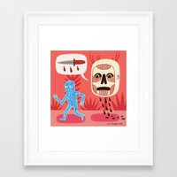 nightmare Framed Art Prints featuring Nightmare by Jack Teagle