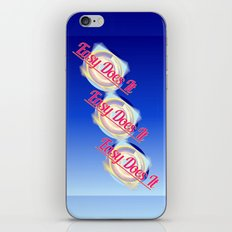 EASY DOES IT logo style iPhone & iPod Skin