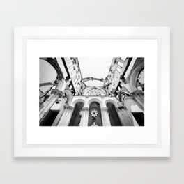 Inside the Cathedral Ruins Framed Art Print