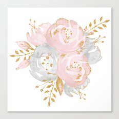 Roses Gold Glitter Pink by Nature Magick Canvas Print