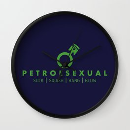 PETROLSEXUAL v3 HQvector Wall Clock