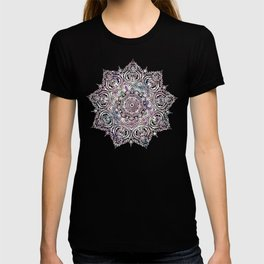 Dreaming Mandala - Magical Purple on Gray T-shirt