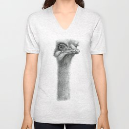 Funny Ostrich SK060 Unisex V-Neck