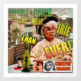 Chiefin' Grams! Art Print
