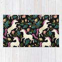 Dancing Unicorns In The Garden Fantasy Tapestry Pattern by sunnybunny