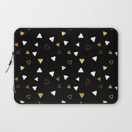 Multi Triangles - Black Laptop Sleeve