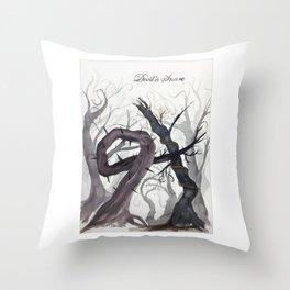 Devil's Snare Botanical Art Throw Pillow