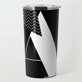 Serif - A - black Travel Mug