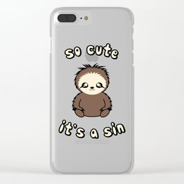 So Cute It's A Sin Clear iPhone Case