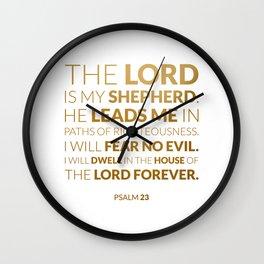 Psalm 23 Wall Clock