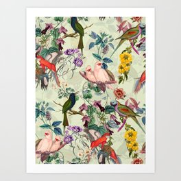 Floral and Birds VIII Art Print