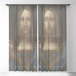 Salvator Mundi, Leonardo Da Vinci, Classic Painting Sheer Curtain