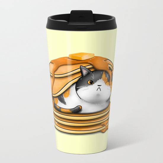 Kitty Pancakes Metal Travel Mug