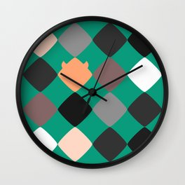 Turquoise touch of Geometric Rebelion Wall Clock