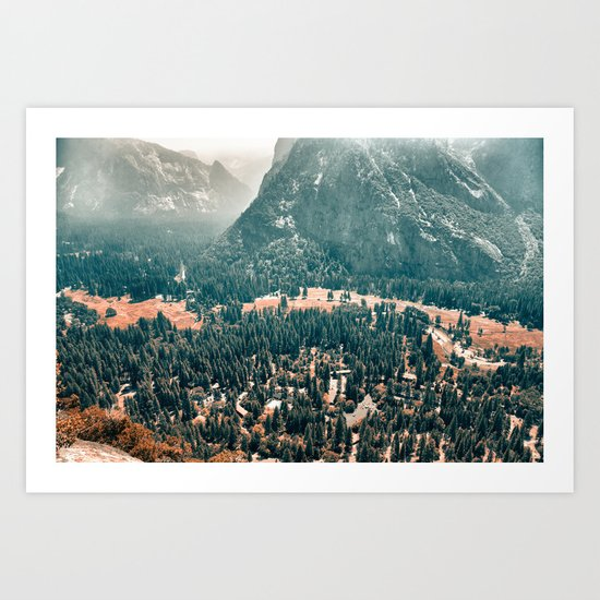 Yosemite Valley - Fall Colors Art Print