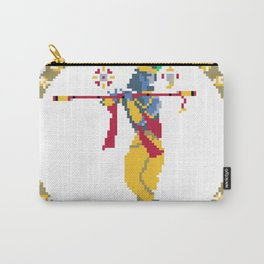 Krishna Pixel Art Carry-All Pouch