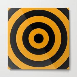 Target (Black & Orange Pattern) Metal Print