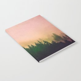 Cascadia Green Trees and Sunset Notebook