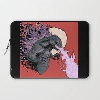 2001 Laptop Sleeves featuring Godzilla 2001 by Leonardo LAGONZA Gonzalez