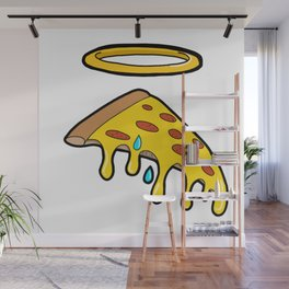 Holy Pizza Grail Crying for Our Sins Wall Mural