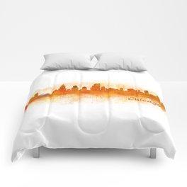 Chicago City Skyline Hq v3 Comforters