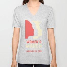 Women's March On Sacramento January 20, 2019 Unisex V-Neck