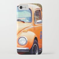volkswagon iPhone & iPod Cases featuring Peace Bug in Color by Dena Brender Photography
