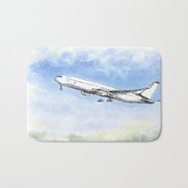 Airplane Flight Bath Mat