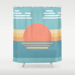 Bauhaus Sunrise Shower Curtain