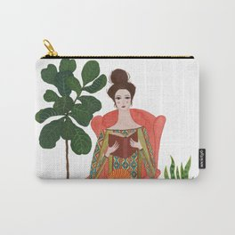 Cat lady reading Carry-All Pouch
