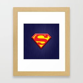 Super Hero Super Man Framed Art Print