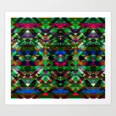 Triangle affair Art Print