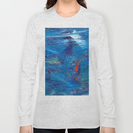 Red in Blue Long Sleeve T-shirt