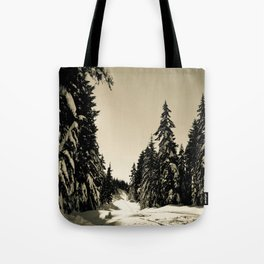 Snow Day Cypress Mountain BC Canada Tote Bag