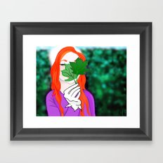 Snowy Willow Framed Art Print