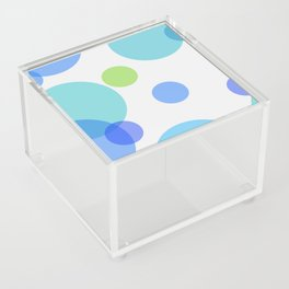 Blue Circles Acrylic Box