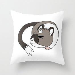 Cocoa Sleep Throw Pillow