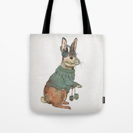 Winter Rabbit Tote Bag
