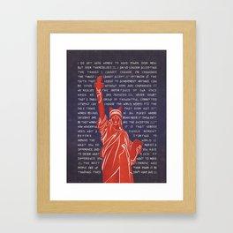 Lady Liberty Feminist Framed Art Print