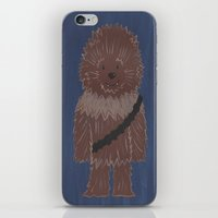 chewbacca iPhone & iPod Skins featuring Chewbacca by The Naptime Artist